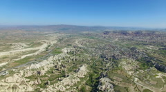 Aerial view of Cappadocia, Turkey Stock Footage