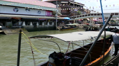 Boats at the Tha Kha Floating Market Stock Footage