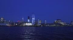 NYC Skyline at Night - stock footage