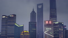 Shanghai Skyline in 4k - stock footage