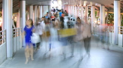 People walking in city time lapse Stock Footage