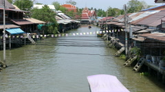 Overview from the Tha Kha Floating Market Stock Footage