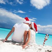Christmas vacation on tropical beach Kuvituskuvat