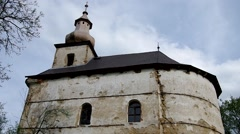 The Evangelical church in Petrovo, Slovakia Stock Footage