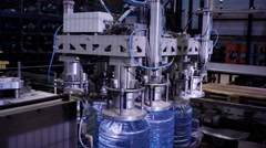 robot in the factory of pure water - stock footage