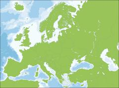 Map of Europe Stock Illustration