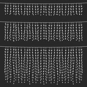 Chalkboard Hanging String Lights Set Stock Illustration