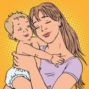 Young mother baby Stock Illustration