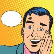 Male hearing gossip Stock Illustration