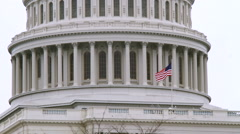 United States Capitol Building CU with GAMMA Filter - stock footage