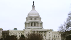United States Capitol Building MWS with GAMMA Filter - stock footage