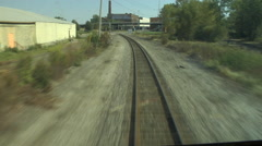 POV from Front of Train - stock footage