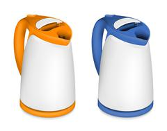 Two electric kettle - stock illustration