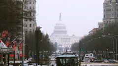 United States Capitol Building WS with GAMMA Filter - stock footage