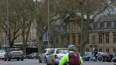 Traffic in Oxford, England Stock Footage