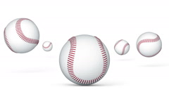 Jumping baseballs. Looping. Stock Footage