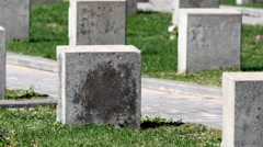 Empty gravestone unknown soldier Stock Footage