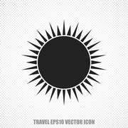 Travel vector Sun icon. Modern flat design Stock Illustration