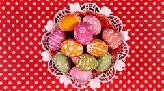 Rotating Easter eggs Stock Footage