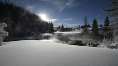 Winter scenery in Colorado Stock Footage