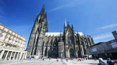 Cologne Cathedral Time Lapse, Germany, editorial Stock Footage