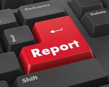 Report - stock illustration