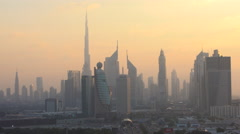 Downtown Dubai in the early morning Stock Footage