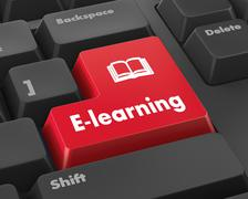 E-Learning - stock illustration