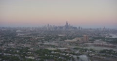 WS POV Suburban area with skyline in the background Stock Footage