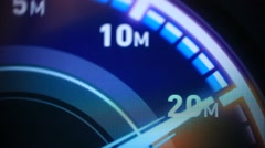 Internet speed test on computer screen Stock Footage