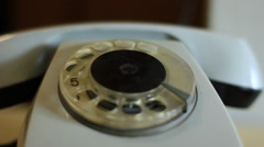 call the old analog phone - stock footage