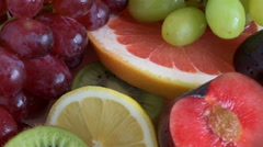 Fruit slices close-up Stock Footage