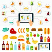 Online Products Order. Internet Shopping - stock illustration
