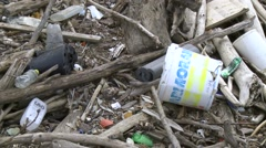 Littering - waste in nature - Déchets en nature Stock Footage