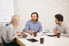 Coworking of businessteam Stock Photos