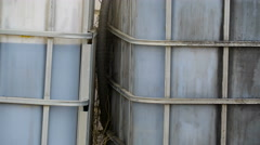 The big gallons of gas storage outside Stock Footage