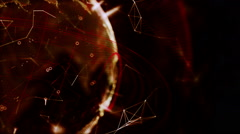 Red Planet made of Particles, rotating sphere. Stock Footage