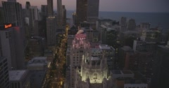 WS POV Intercontinental Chicago magnificent mile Stock Footage