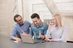 Coworking of businessteam - stock photo