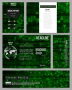Set of business templates for presentation, brochure, flyer or booklet. Virtual Piirros