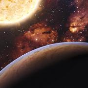 Alien Exo Planet. Elements of this image furnished by NASA Stock Illustration