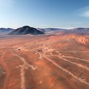 Mars surface. Elements of this image furnished by NASA Stock Illustration
