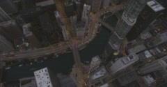 WS POV Skyscrapers in city - stock footage