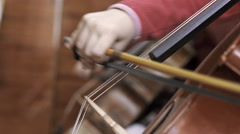 child playing the cello - stock footage
