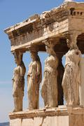 Caryatids at Porch of the Erechtheion, Acropolis - stock photo