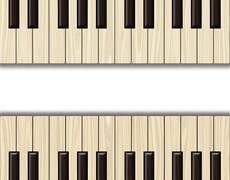 Wood textured background.Piano keyboard. Stock Illustration