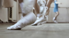Ballerina at dancing lessons - stock footage