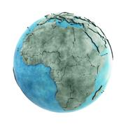 Africa on marble planet Earth Stock Illustration
