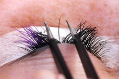 Extension eyelashes, beauty concept Stock Photos