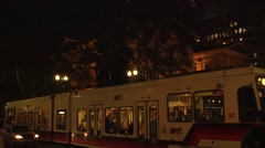 Portland Transit Mall Pioneer Courthouse Stop - stock footage